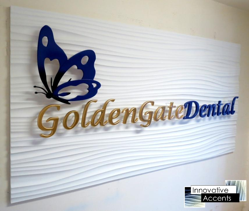 custom reception area sign, reception area signage, 3d sign, custom 3d sign