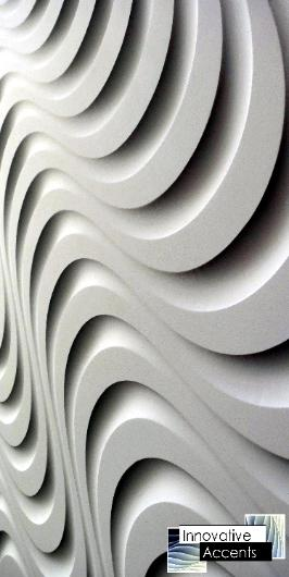 3d accent wall, 3d wave wall, 3d textured wall, wavy wall
