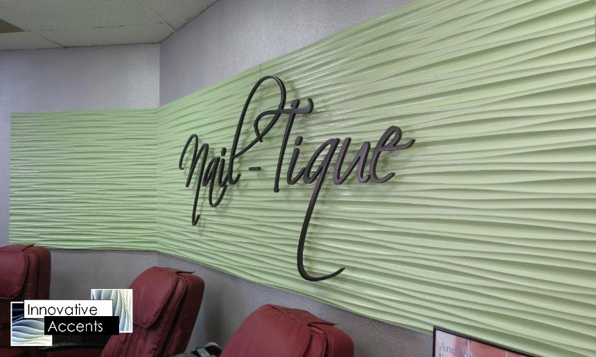 Beauty Shop Sign, Wavy Beauty Shop Sign, 3d Beauty Shop Sign, Nail Shop